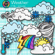 Weather Clip Art {Teach Climate, Erosion, and the Water Cycle in Science}