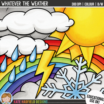 """Weather Clip Art: """"Whatever the Weather"""""""
