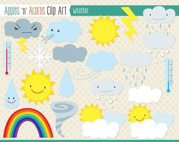 Weather Clip Art - color and outlines