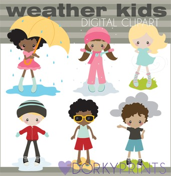 7422cc7c8 Weather Clipart with Kids by Dorky Doodles