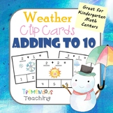 Weather Clip Cards Adding to 10