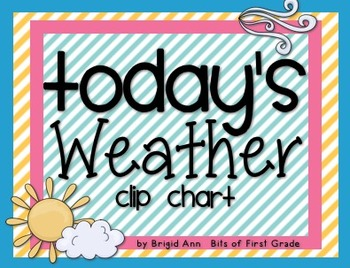 Weather Clip Chart Calendar or Morning Meeting