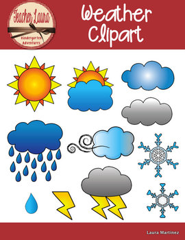 weather clipart by teacher laura teachers pay teachers rh teacherspayteachers com weather clip art for preschool weather clipart black and white