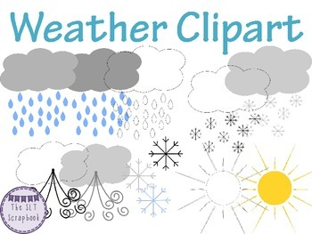 Clipart - Weather Graphics- Commercial and Personal Use OK