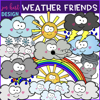 Weather Clipart {Smiley Faces}