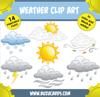 weather clipart by mr guera s art studio teachers pay teachers rh teacherspayteachers com Clipart Of Students Clipart Of Students