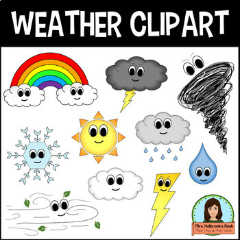 weather clipart by hannah holbrook teachers pay teachers rh teacherspayteachers com Weather Helper Clip Art Clip Art Weather Lady