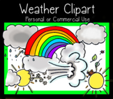 Weather Clipart - Color and B&W - Personal or commercial use