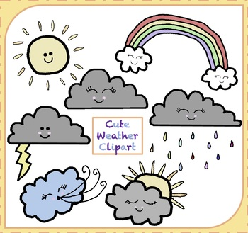 Weather Clipart / Cute Weather Clipart
