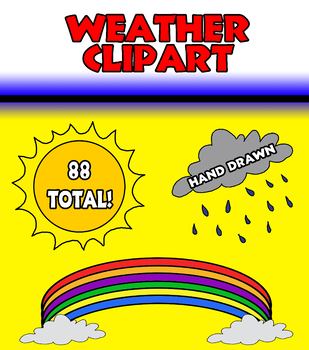 Weather Clipart (Hand Drawn!)