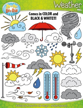 Weather Clipart Set — Includes 65 Graphics!