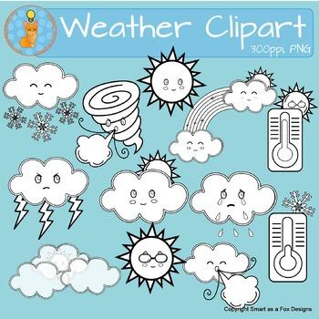 Clip Art: Weather Icons: Fog Color Labeled I abcteach.com   abcteach