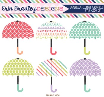 Weather Clipart - Umbrellas
