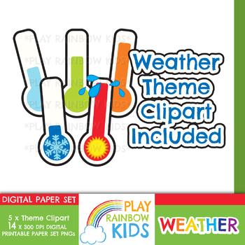 Weather Clipart + Paper Bundle