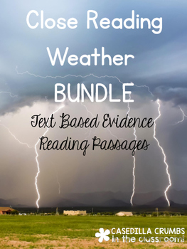 Weather Close Reading