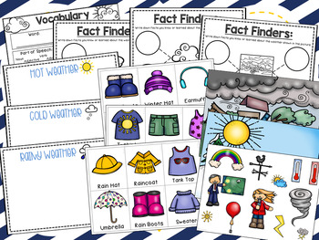 Weather & Clothing Vocabulary & Comprehension Activities