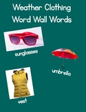 Weather Clothing Word Wall Words