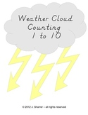 Weather Cloud Counting 1 to 10