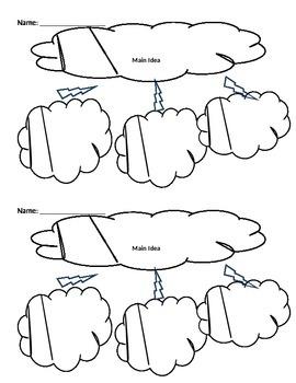 Weather Cloud Graphic organizer