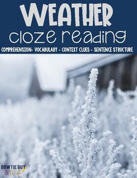 Weather Cloze Reading Activity Bundle
