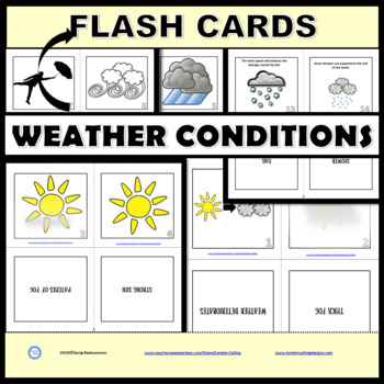 Weather Collocations - Flash Cards