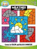 Weather Color By Code Clipart {Zip-A-Dee-Doo-Dah Designs}