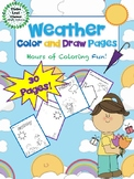 Weather Color and Draw Pages -  Coloring and Drawing Activity