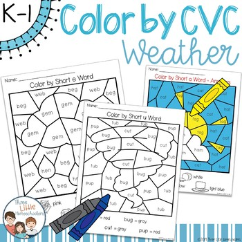 Weather Color by CVC Word