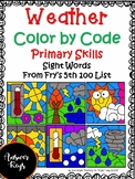Weather Color by Code Sight Words Fry's Fifth100 List