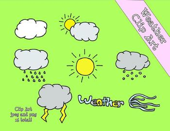 Weather Colored Clip Art