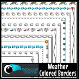 Weather Colored Page Borders Clip Art