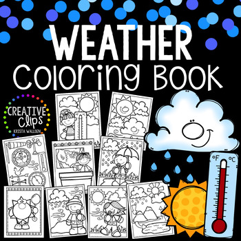 Weather Coloring Book {Made by Creative Clips Clipart}