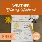 Weather Coloring Worksheet (FREE)