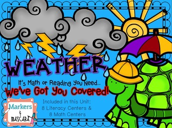 Weather Common Core Math and Literacy Centers