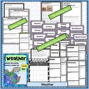 Weather Complete Lesson Set Bundle (NGSS & TEKS)