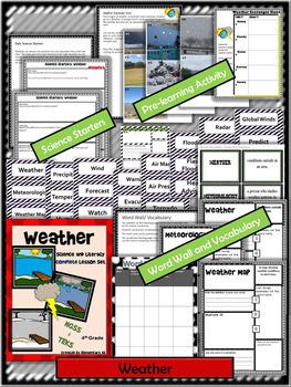 Weather:Complete Lesson Set Bundle (TEKS & NGSS) 4th Grade