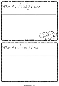 Weather Concept Book QLD Beginners Font