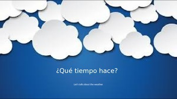 Weather Conversation Starters for Spanish
