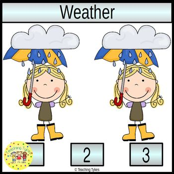 Weather Count and Clip Task Cards