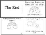 "Weather Emergent Reader Mini-Book ""Rainbow, Rainbow What Do You See?"""