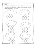 Spring Weather Counting and Writing Teen Numbers Worksheet