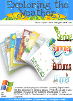 Weather Craft Activities and ideas over 200 Activity sheets