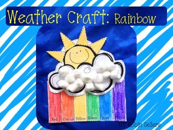 weather craft ideas for preschoolers weather craft rainbow craft for science by robin sellers 7318