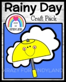 Spring, Summer Weather Activity with Umbrella & Clouds Rain Craft Science Center