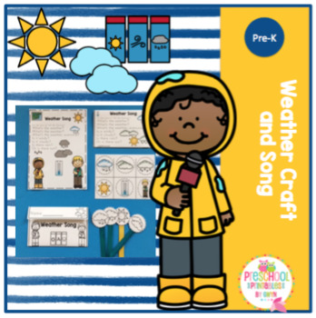 weather craft and song make and take by preschool printable tpt