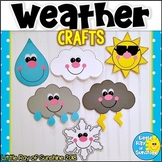 Weather Crafts: Sun, Rain, Snowflake, Clouds