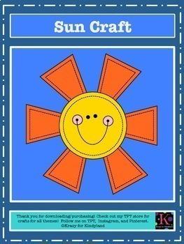 Weather Craft Pack: Rainbow, Rain, Cloud, Sun, Snow (Spring,Summer,Winter,Fall)