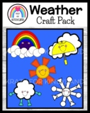 Weather Craft Bundle for Kindergarten: Rainbow, Rain, Cloud, Sun, Snow (Seasons)