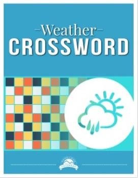 Weather Crossword Puzzle {Editable}