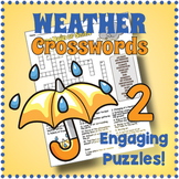 Weather Crossword Puzzle Worksheets